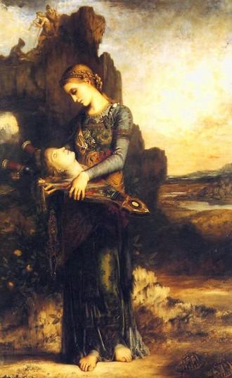 La testa di Orfeo  1890 - Gustave Moreau  Parigi, Musée Moreau