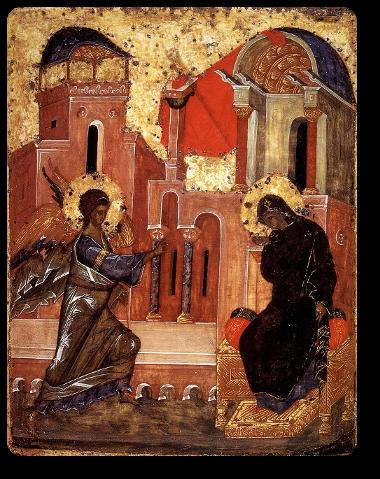 Annunciazione Icona russa del 15° secolo, Galleria Tret'Jakov - Mosca