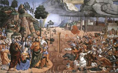 Attraversamento del Mar Rosso Biagio d'Antonio - Cappella Sistina