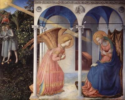 L'Annunciazione, Beato Angelico (sec. XV) Museo del Prado