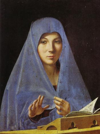 L'Annunziata di Palermo, Antonello da Messina (sec. XV), palazzo Abatellis, Messina