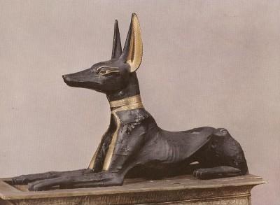 Anubis - Museo del Cairo (prov. Tomba di Tuntankhamon)