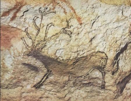 Rappresentazione tardo-paleolitica di un cervo - Lascaux (Dordogne)