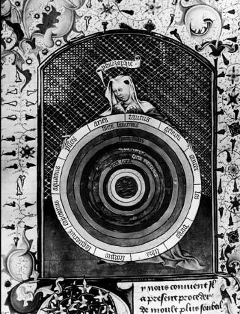 Figura femminile che rappresenta la Filosofia - Sant'Agostino, La Città di Dio fol.287 - Bruxelles, Biblioteca Reale