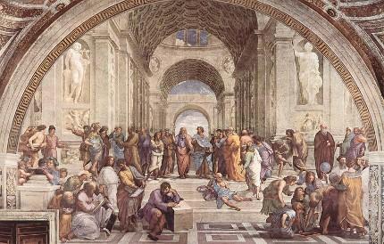 Raffaello Sanzio - La scuola di Atene - Musei Vaticani