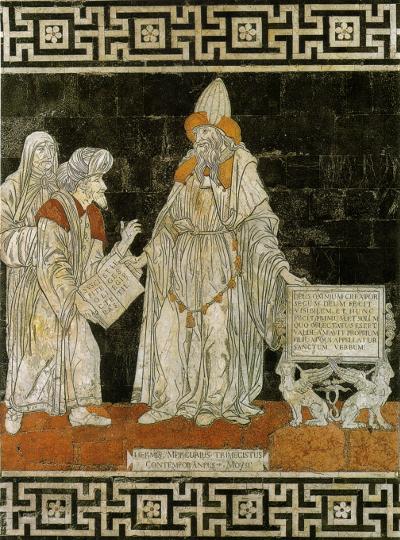 Ermete Trimegisto - mosaico del pavimento del Duomo di Siena