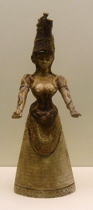 Grande dea dei serpenti, Cnosso, 1600 a. C