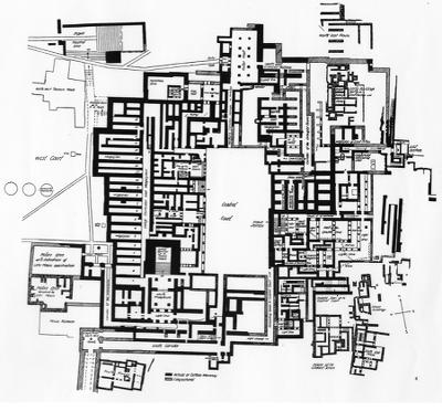 Pianta del palazzo di Cnosso, Creta, risalente al XV secolo a.C.