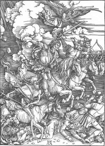 Dürer: I 4 cavalieri dell'Apocalisse