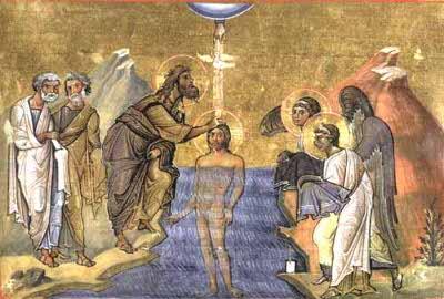 Epifania di Gesù Miniatura dal Menologion di S. Basilio (fine X sec.)