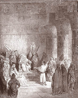 Giuseppe interpreta il sogno del Faraone Gustave Doré