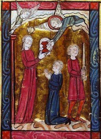 Miniatura del XIII sec. dal Perceval di Chretien de Troyes