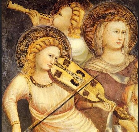 Maestro di Tolentino: angeli musicanti