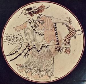 Menade danzante 480 a.C. - Monaco, Museo Antiker Kleinkunst