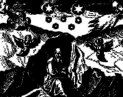 Alchimista in meditazione allo stato di Nigredo, al principio dell'opera. Jamsthaler, Viatorium spagyricum (1625)