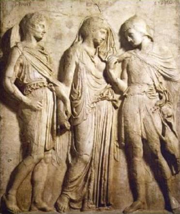 Orfeo, Euridice e Mercurio (I sec. d.C.), rilievo Napoli - Museo Archeologico Nazionale
