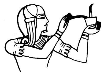 Offerta d'incenso Rilievo del tempio di Osiride ad Abido (Egitto)