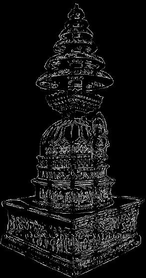 Piccolo Stupa in pietra. Arte indiana di epoca Kushana.