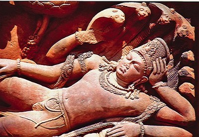 Vishnu dorme su Anante VI sec. - Tempio di Dashavatara