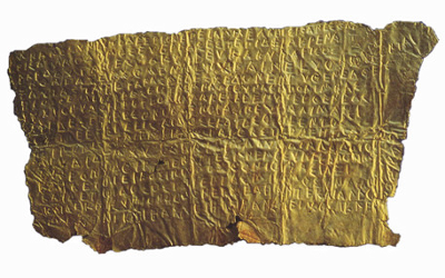 Laminetta Orfica - IV sec. a.C.