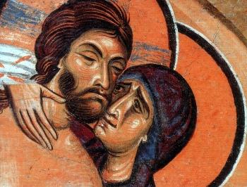 Compianto sul corpo di Cristo (part.), S. Panteleimon, Nerezi (Macedonia) XII sec.