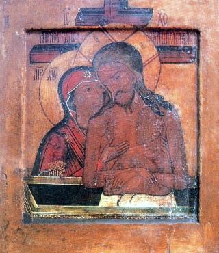 """""""Non piangere, Madre"""" - Icona russa - XVIII sec."""