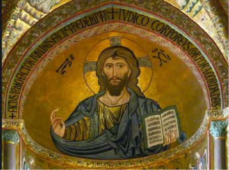 Cristo Pantocrator - Mosaico della basilica di Cefalù