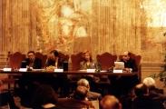 <p>Da sinistra: P.Prini, A.Abécassis, M.A. de Robilant, Mons. Fisichella</p>