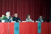 <p>Da sinistra: Gilbert Durand, Julien Ries, Marie Amélie de Robilant, Lima De Freitas</p>