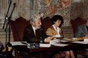 <p>Franco Michelini Tocci e Françoise Bonardel</p>