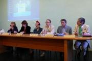 <p>Da sinistra: Magda Di Renzo, Giulia Valerio, Marie Amélie de Robilant, Maria Pia Rosati, Francesco Giordano, Claudio Widmann</p>