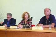 <p>Da sinistra: Giuseppe Scattolin, Maria Claudia Loreti, Federico De Luca Comandini</p>