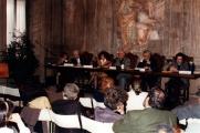 <p>da sx: interprete, Franco Michelini Tocci, Françoise Bonardel, Julien Ries, Paolo Miccoli, Claudio Rugafiori</p>