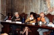 <p>da sinistra: interprete, Franco Michelini Tocci, Françoise Bonardel, Julien Ries</p>