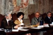 <p>da sinistra: Franco Michelini Tocci, Françoise Bonardel, Julien Ries, Paolo Miccoli</p>